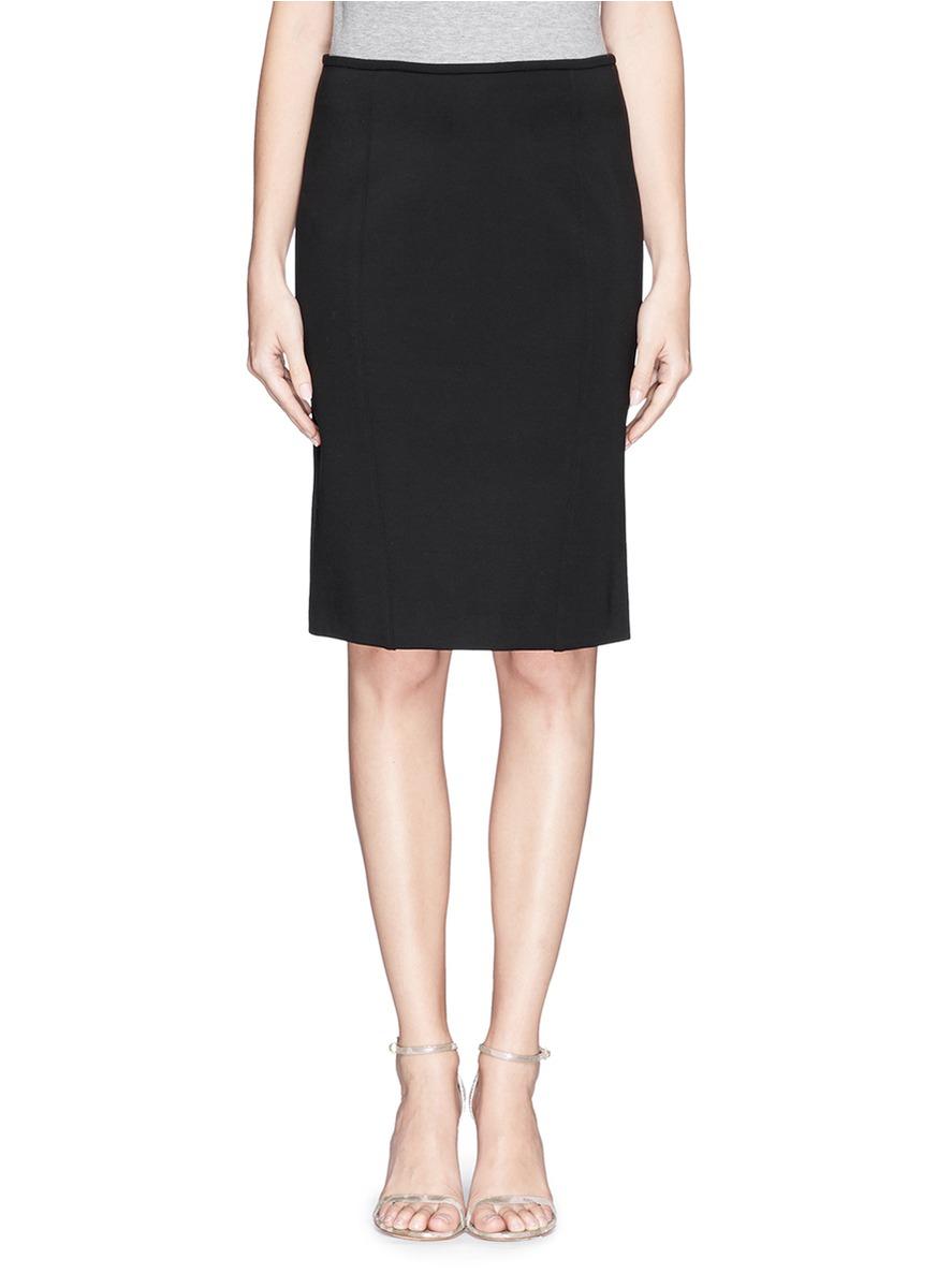 Armani Milano Knit Pencil Skirt in Black | Lyst