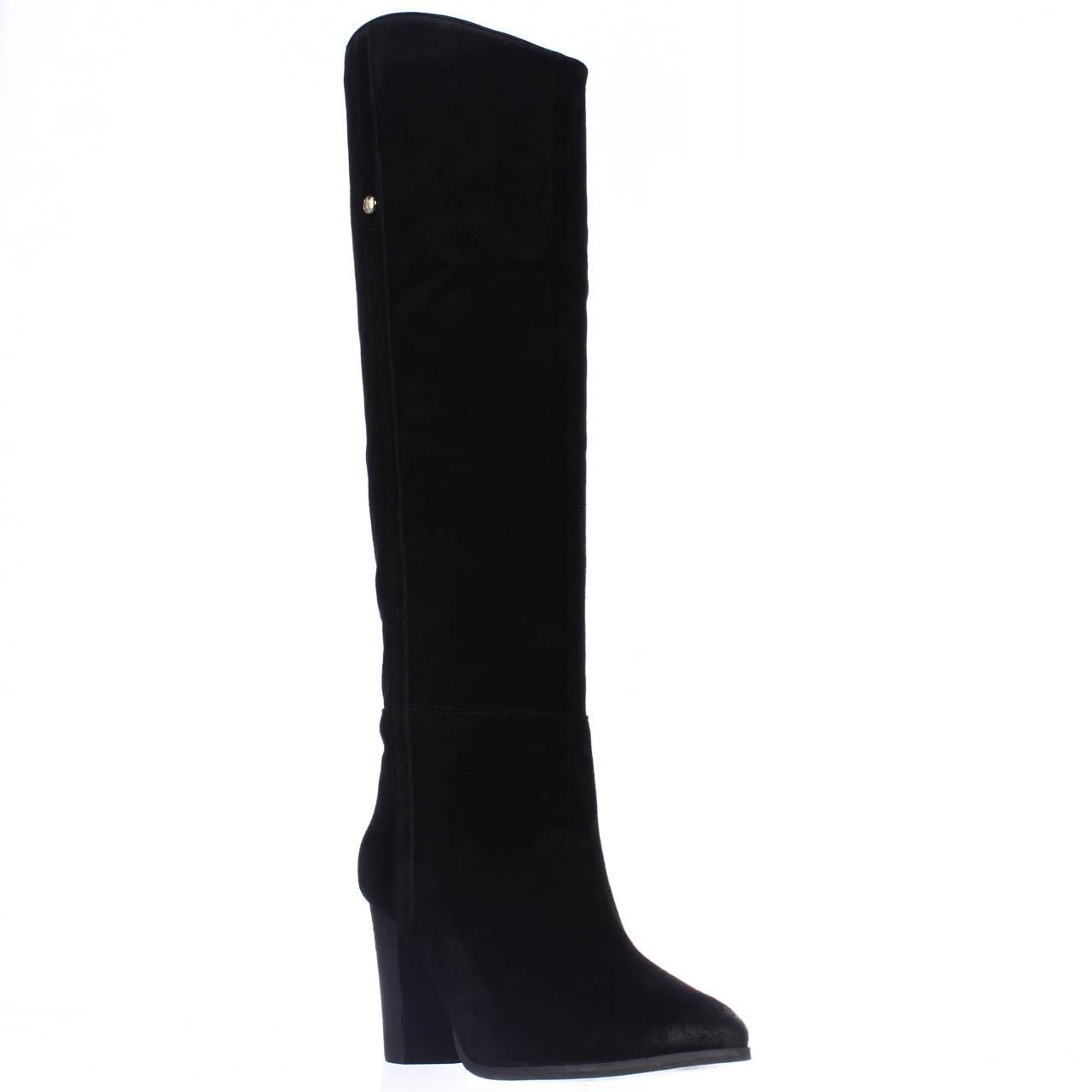 guess honon knee high dress boots in black lyst