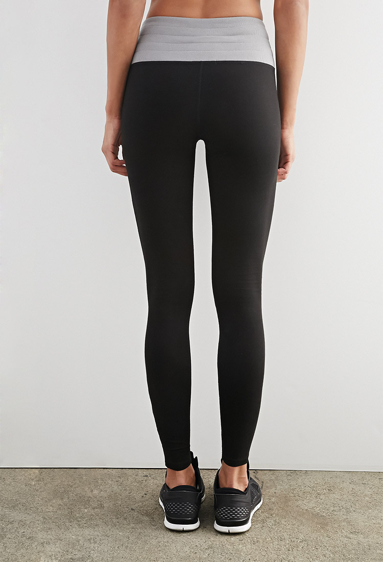 Lyst Forever 21 Active High Waisted Lounge Leggings In Black