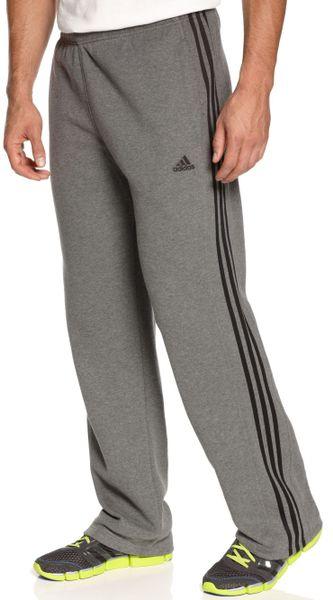 Adidas 3 Stripe Track Pants In Gray For Men Lead Black