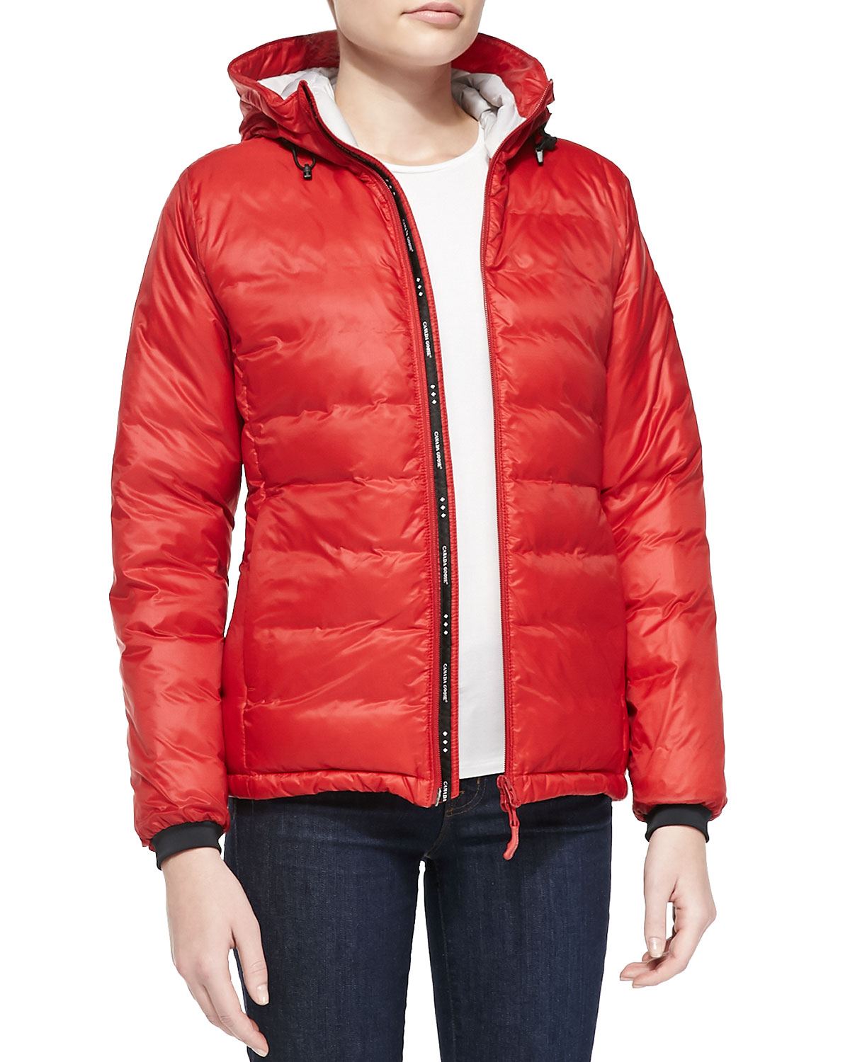 Canada Goose chateau parka sale official - Canada goose Camp Hooded Packable Puffer Coat in Red | Lyst