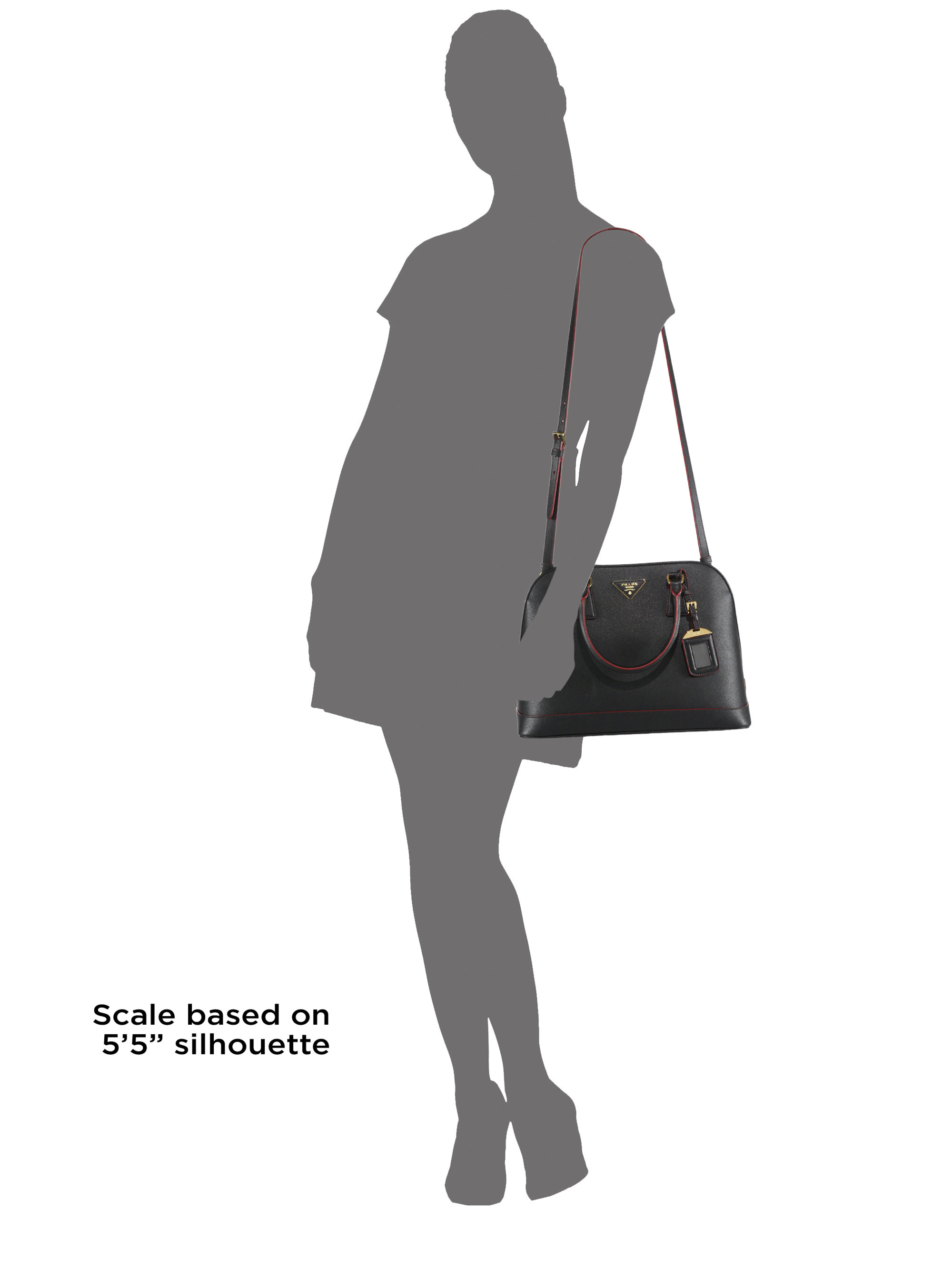 aaaa replica handbags - Prada Saffiano Lux Promenade Leather Satchel in Black | Lyst