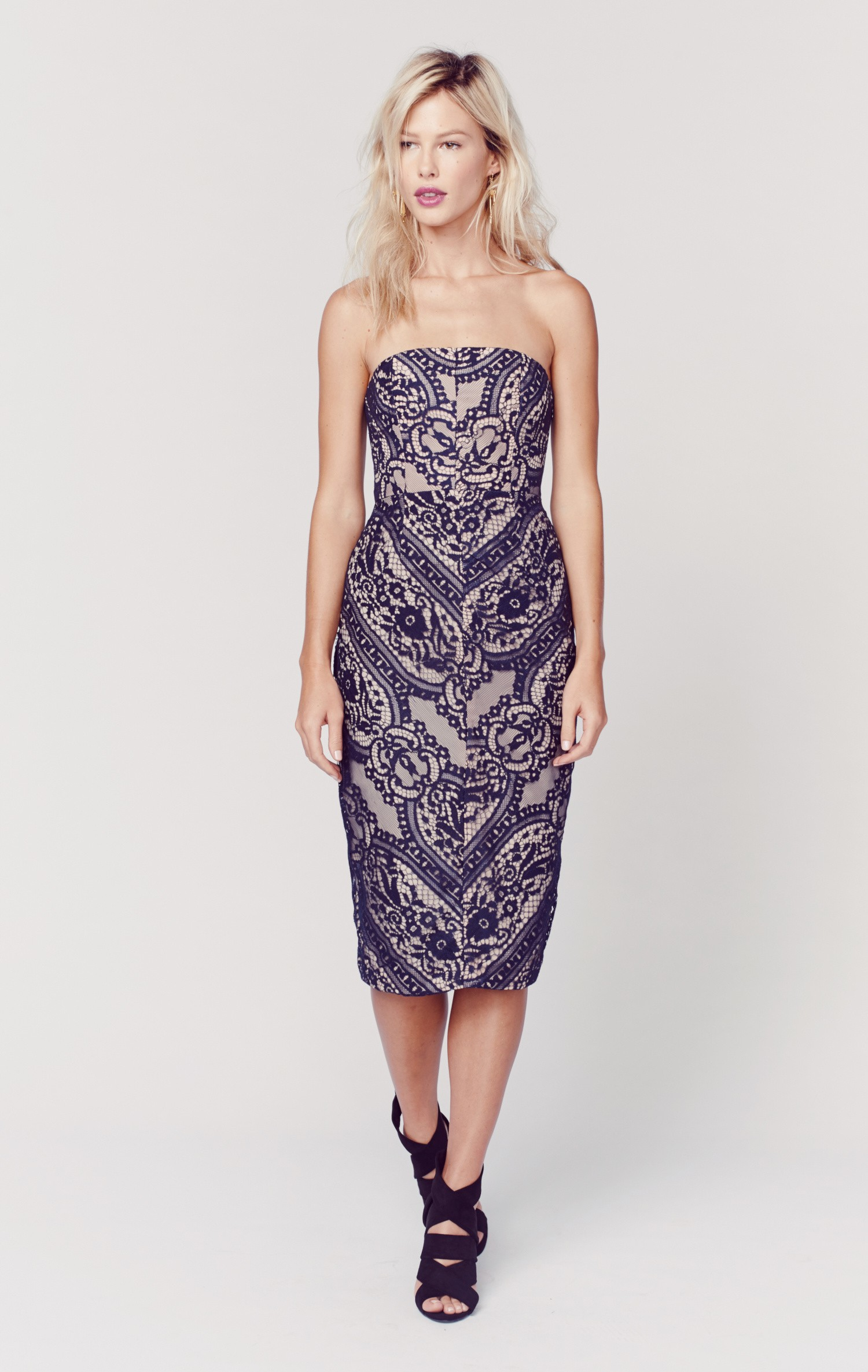 Stylestalker piano strapless dress