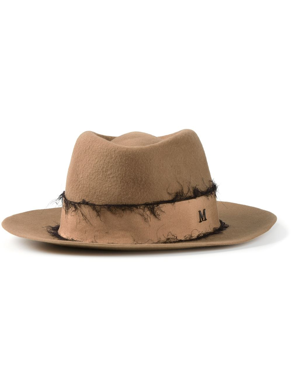 Lyst maison michel andre hat in brown for Maison michel