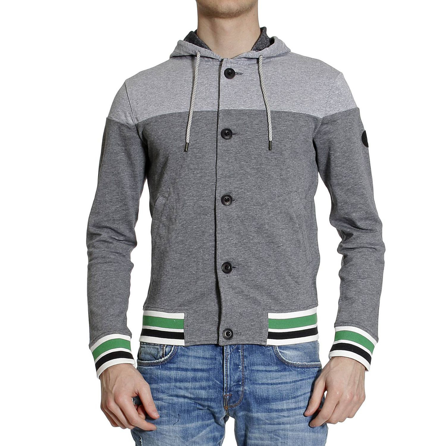 Armani Jeans Sweater Sweetshirt Cardigan With Hoodie In