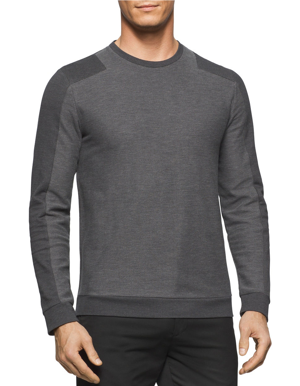 calvin klein colorblocked pullover in gray for men lyst. Black Bedroom Furniture Sets. Home Design Ideas