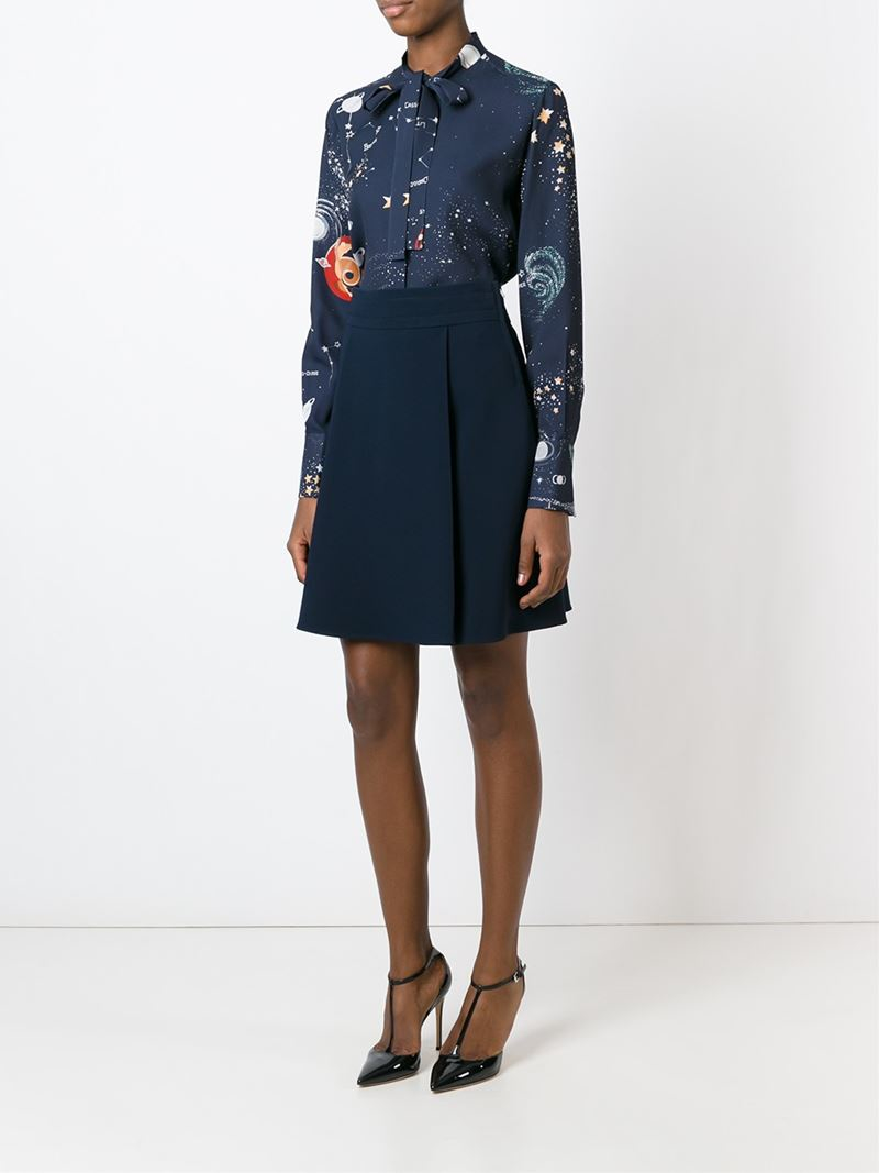 valentino cosmo blouse in blue lyst