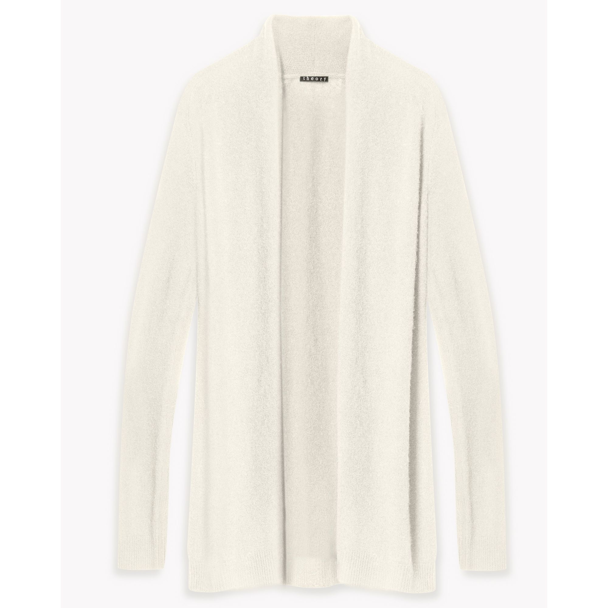 Lyst - Theory Feather Cashmere Open Cardigan in White 10be1fe23