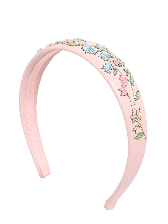 net detail embellished headband - Pink & Purple Red Valentino uyCK7ryn