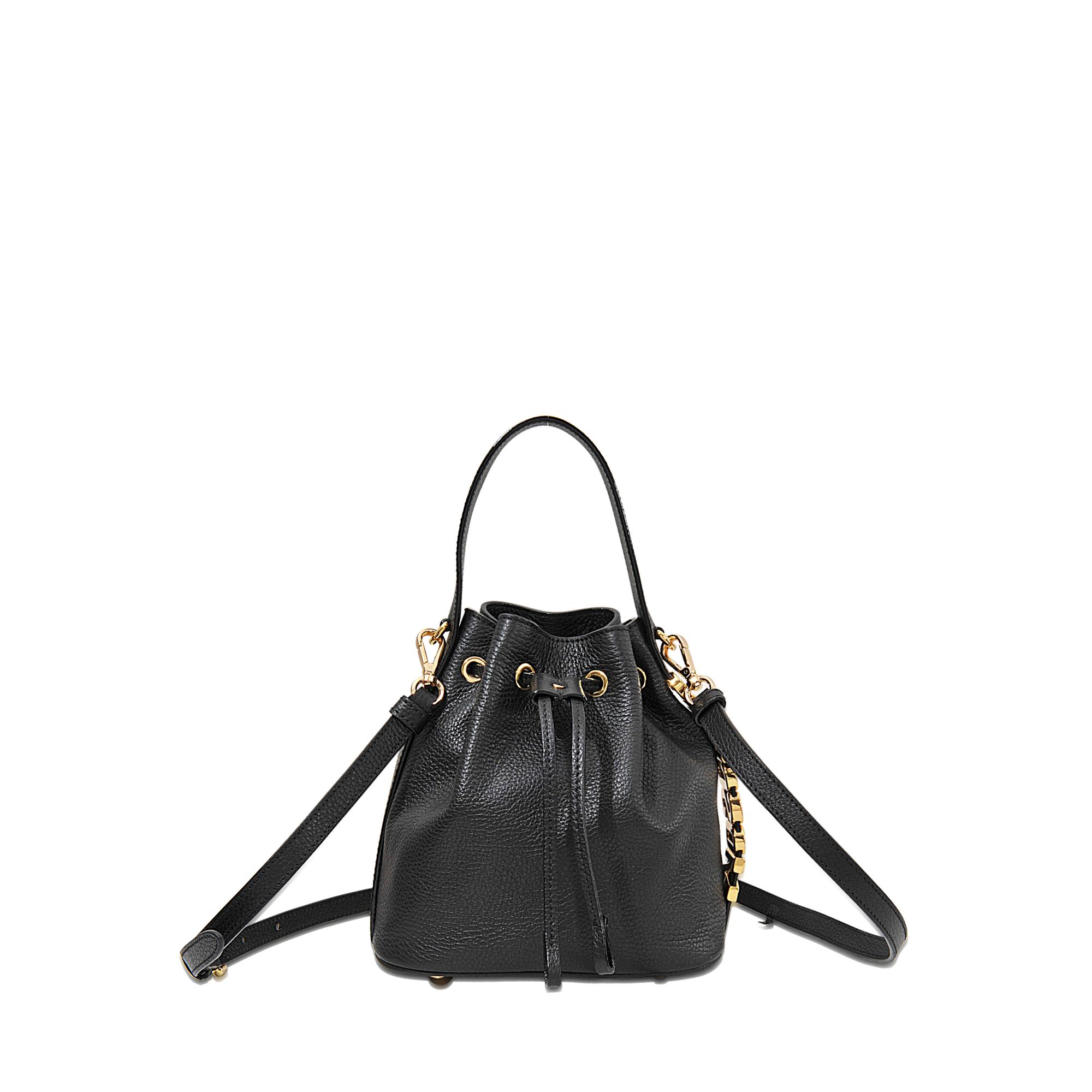 2fa79a18a32 Moschino Mini Lettering Bucket Bag in Black - Lyst