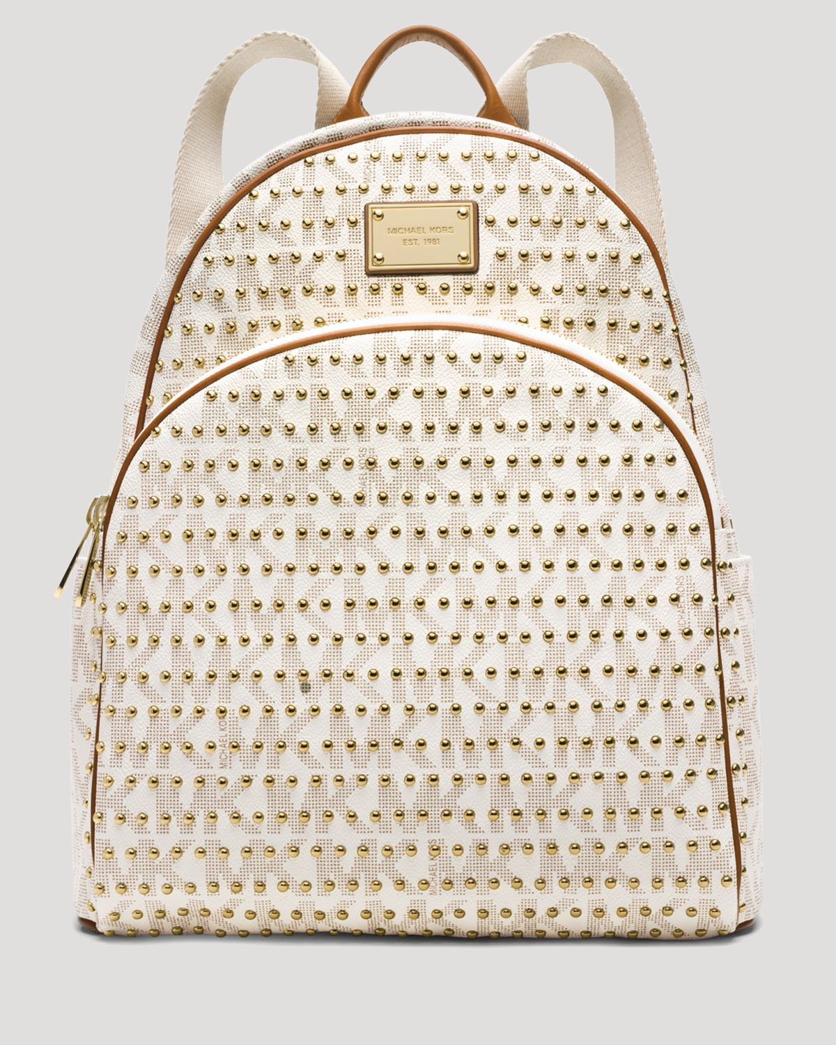 3a338c7a8738 Lyst - MICHAEL Michael Kors Backpack - Jet Set Item Large Studded in ...