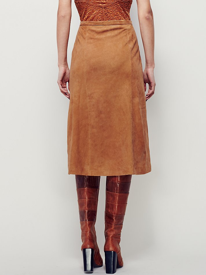 Lyst Free People It S A Wrap Suede Skirt In Brown