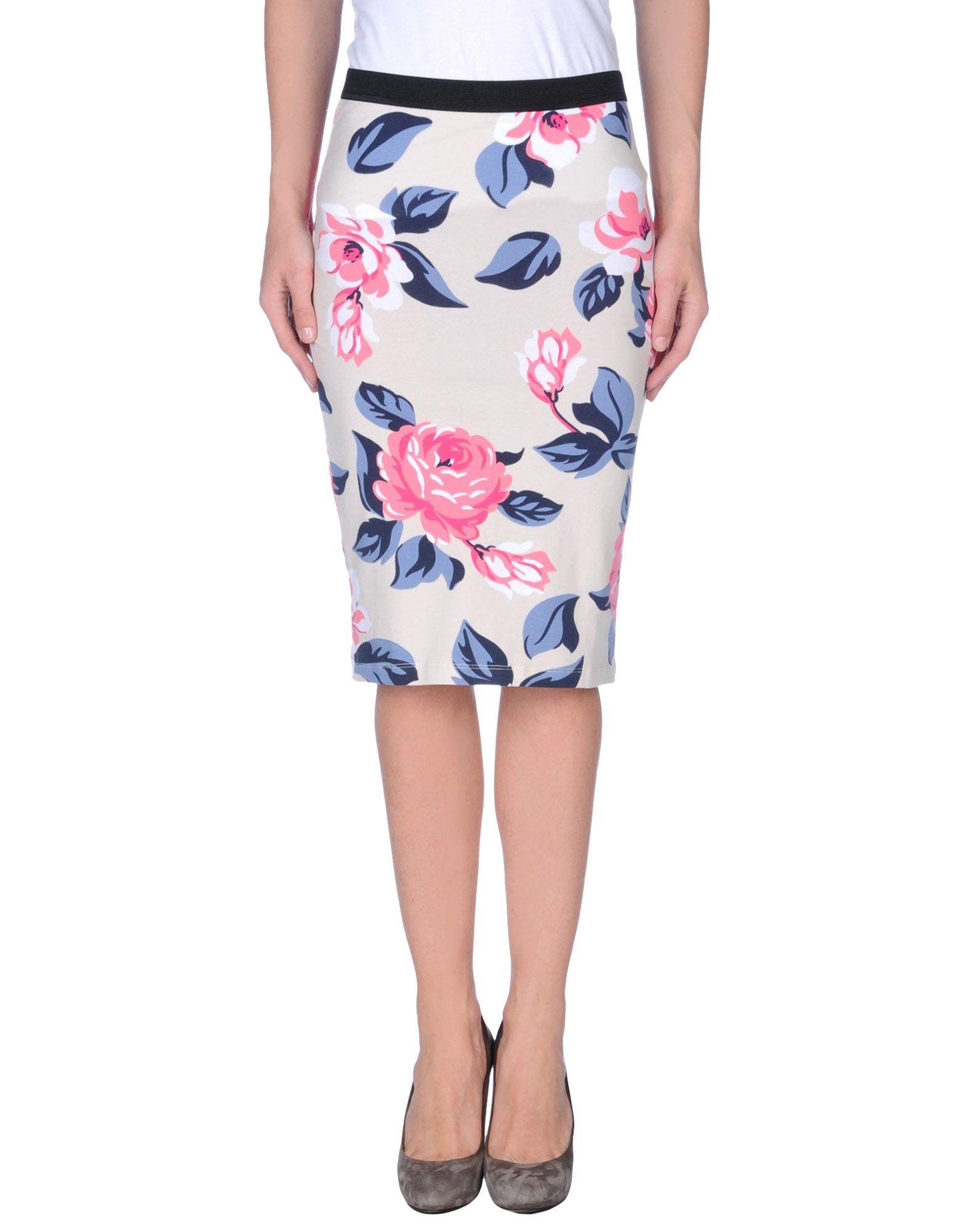 only knee length skirt in white lyst