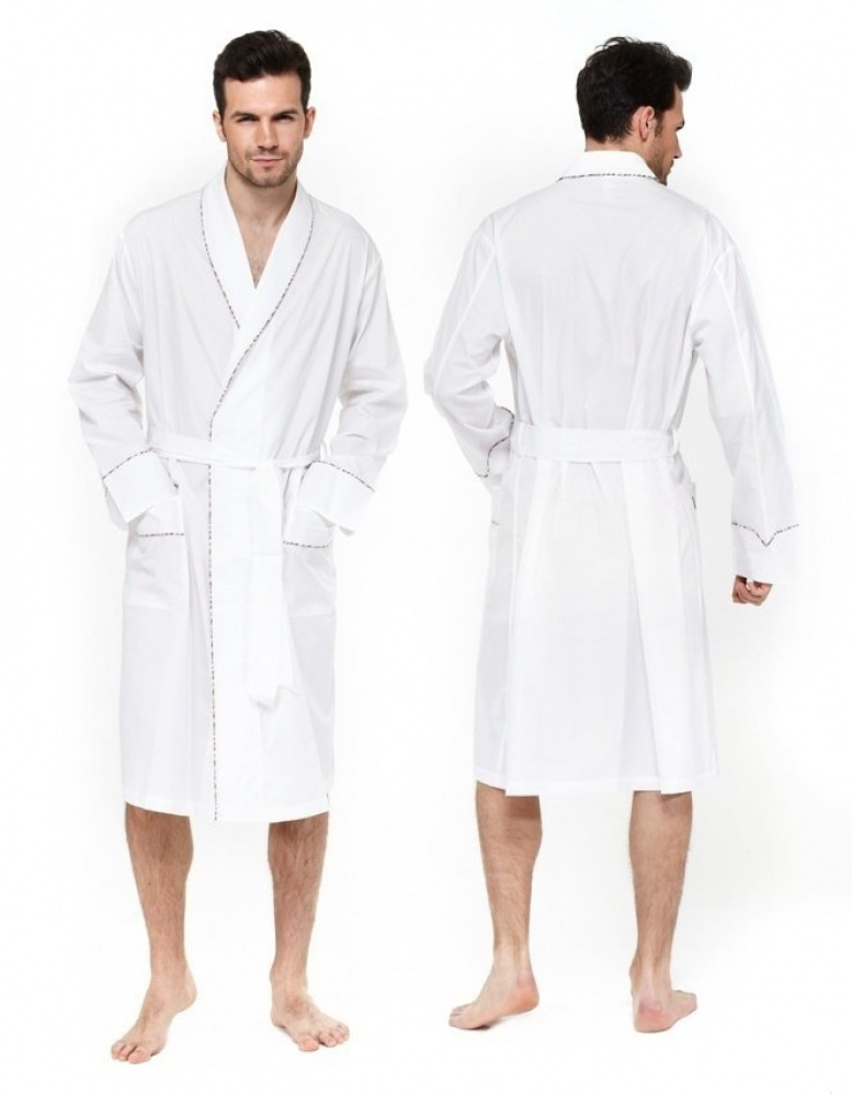 Lyst - Paul Smith Multi Stripe Piping Dressing Gown in White for Men