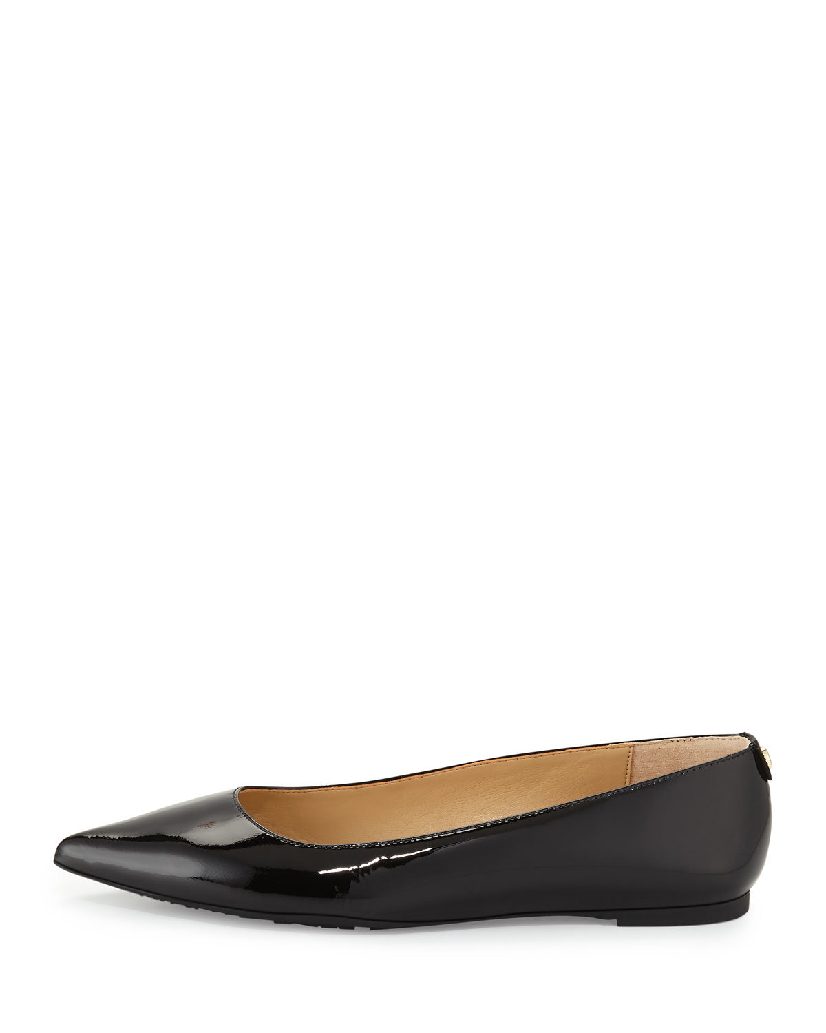 15c4c3609a3 Lyst - MICHAEL Michael Kors Arianna Patent Pointed-toe Flat in Black