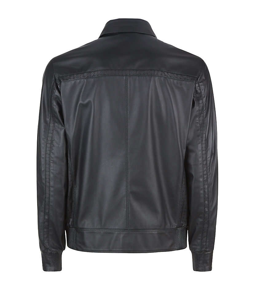 Stefano Ricci Leather Blouson Jacket in Black for Men