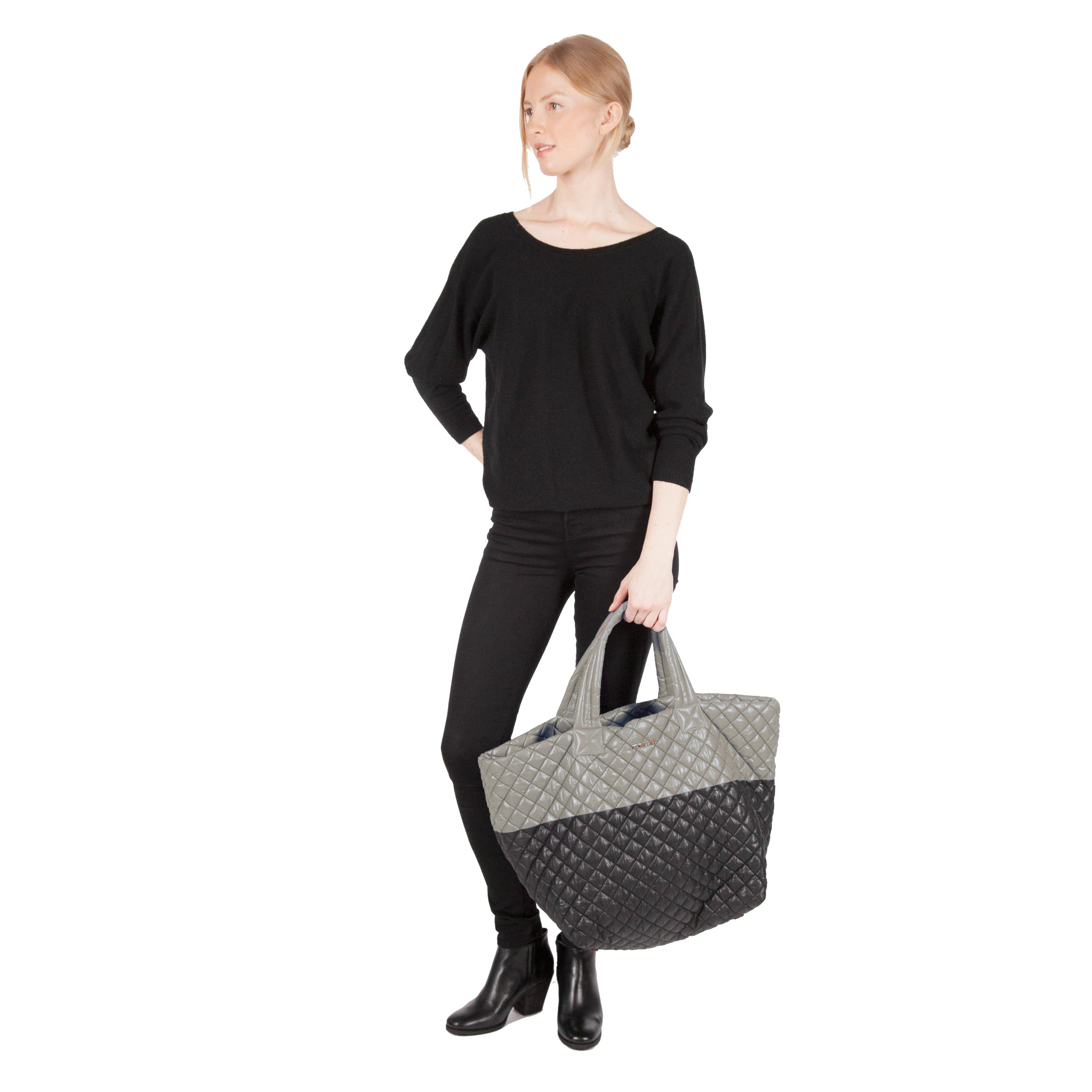 MZ Wallace Large Metro Tote Black And Kingsport Colorblock