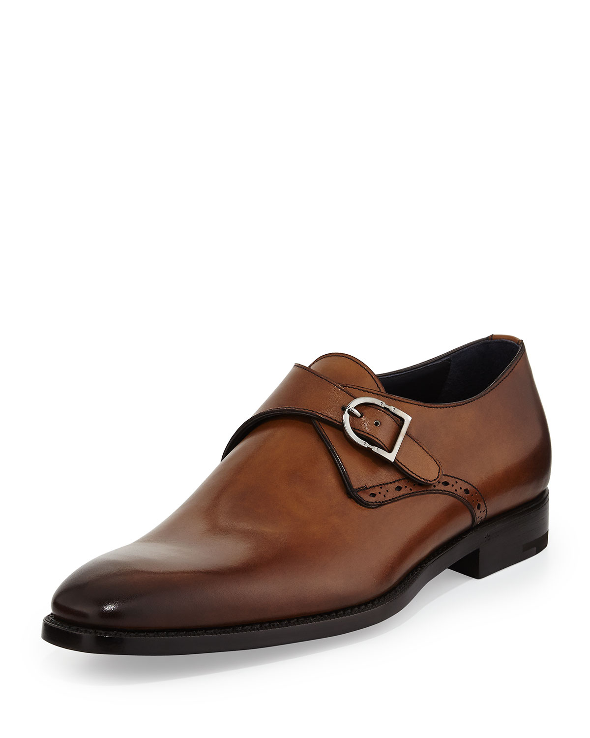 Single Buckle Mens Shoes