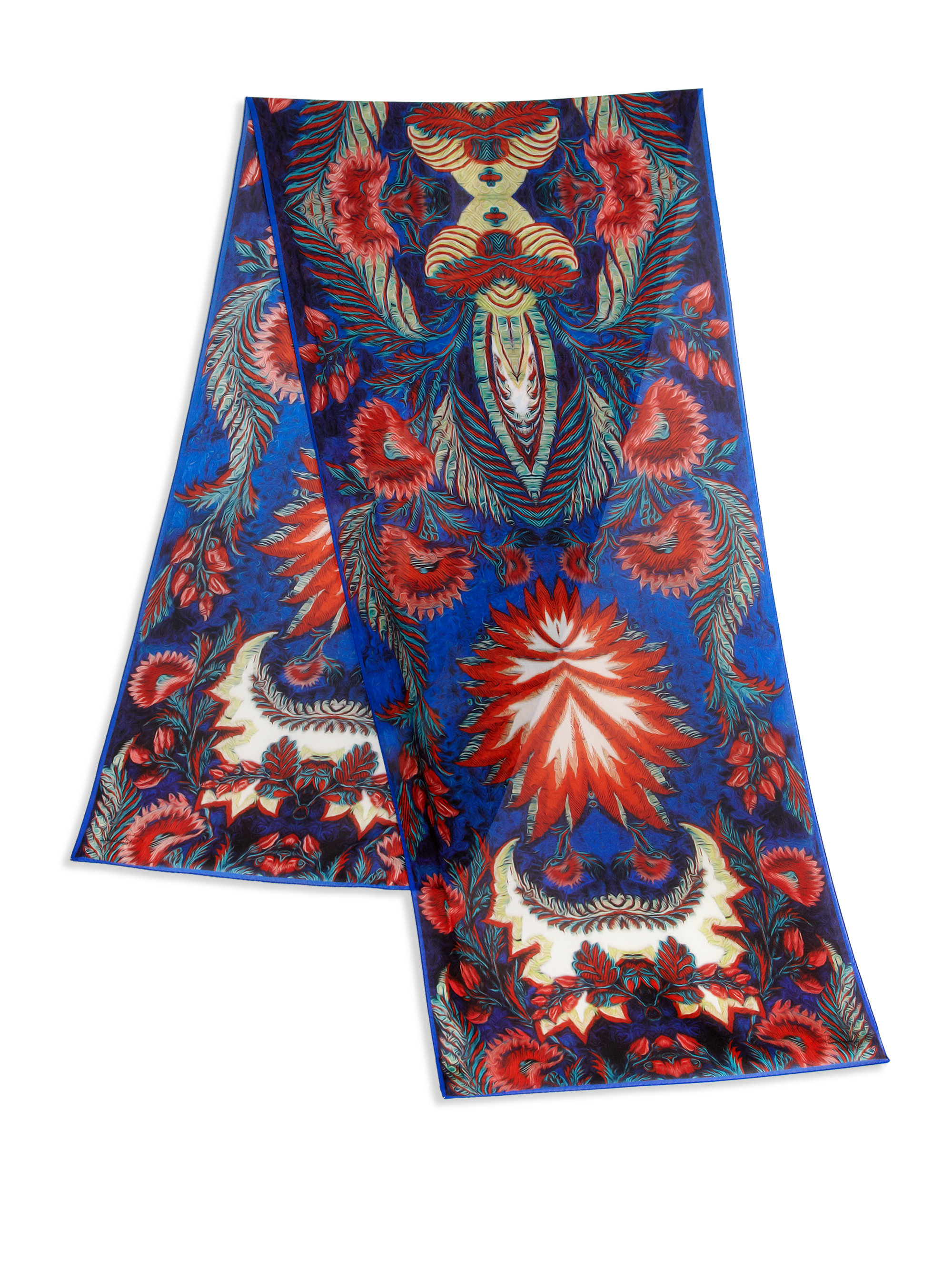 20beacc6d Roberto Cavalli Psychedelic Tapestry Print Silk Scarf for Men - Lyst