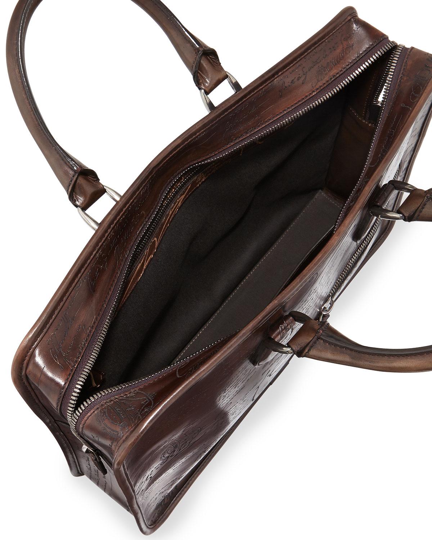 Un Jour Leather Briefcase Berluti 94NgqXJ