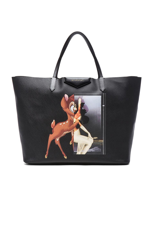 4a53a83183 Lyst - Givenchy Antigona Bambi Coated-Canvas Tote in Black