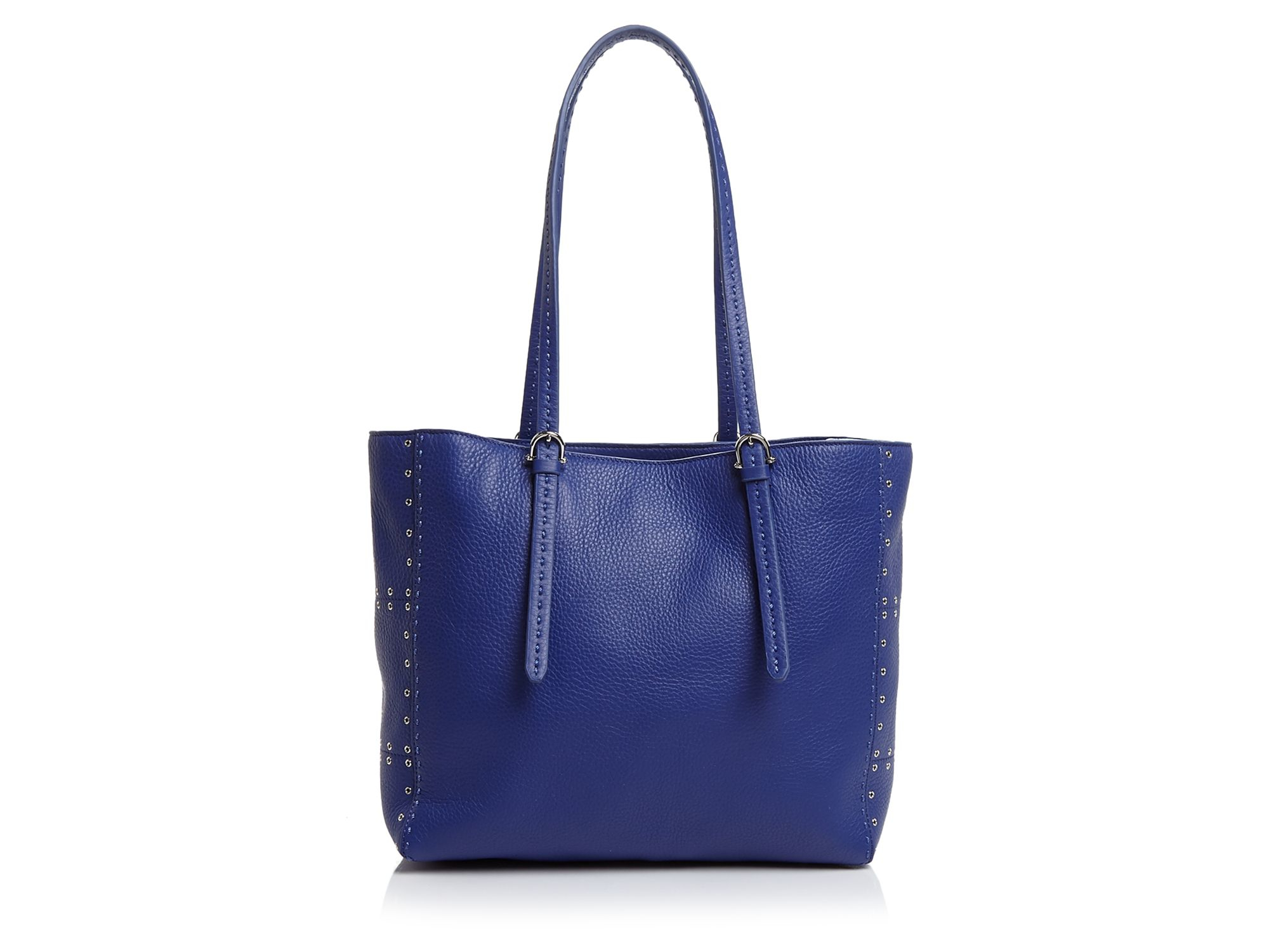 Etienne Aigner Leather Tote - Convertible Grommet in Cobalt (Blue)