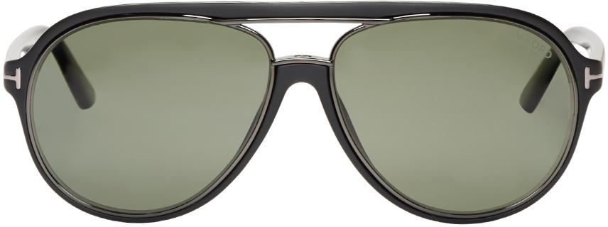 cbd2159995a7 Tom Ford Black Matte Sergio Sunglasses in Black - Lyst