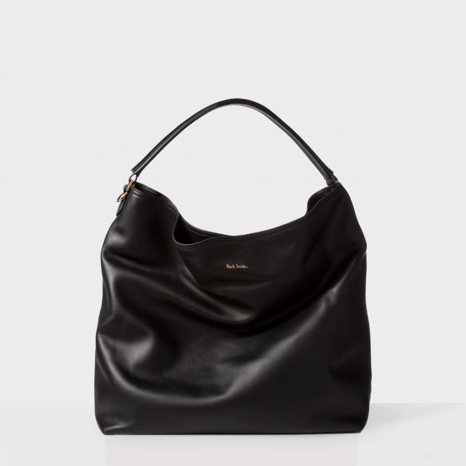 299e6a595a Paul Smith Women s Black Calf Leather  hobo  Bag in Black - Lyst
