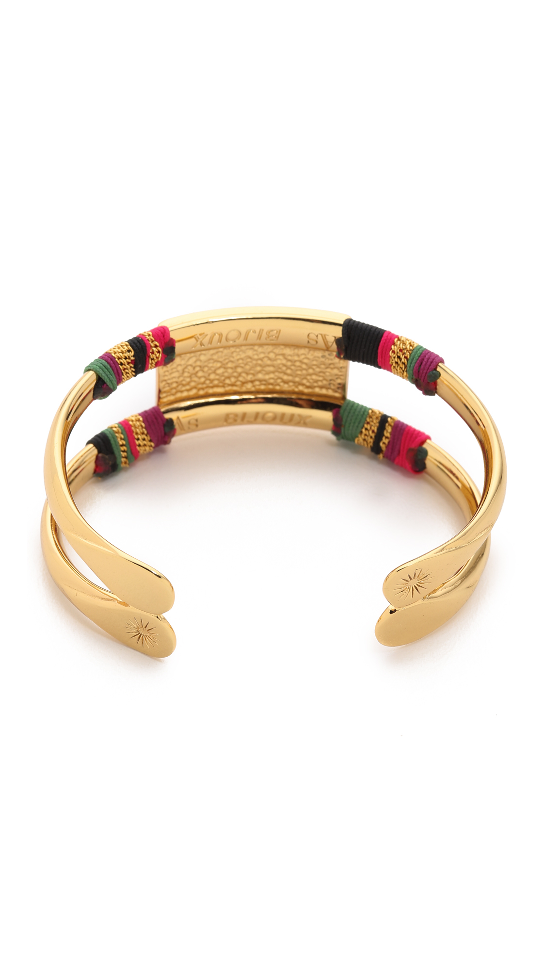 gas bijoux massai snakeskin double bracelet lune in metallic lyst. Black Bedroom Furniture Sets. Home Design Ideas