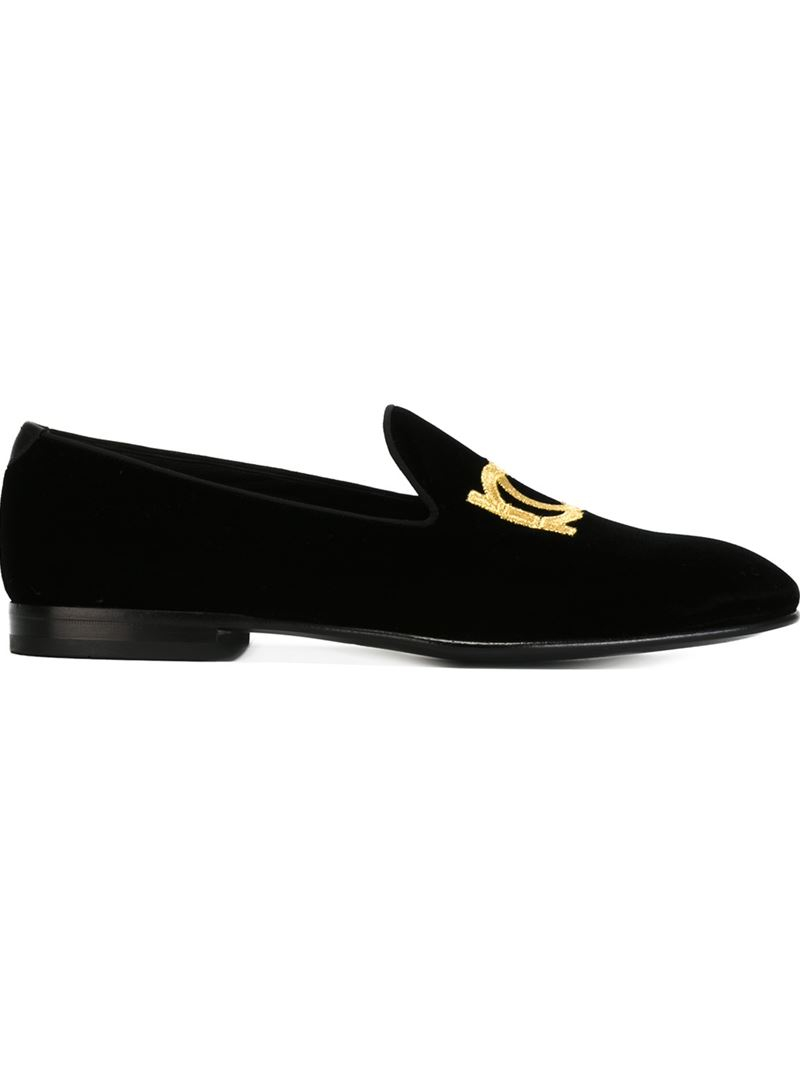 Ferragamo Leather 'manhattan' Slippers in Black for Men