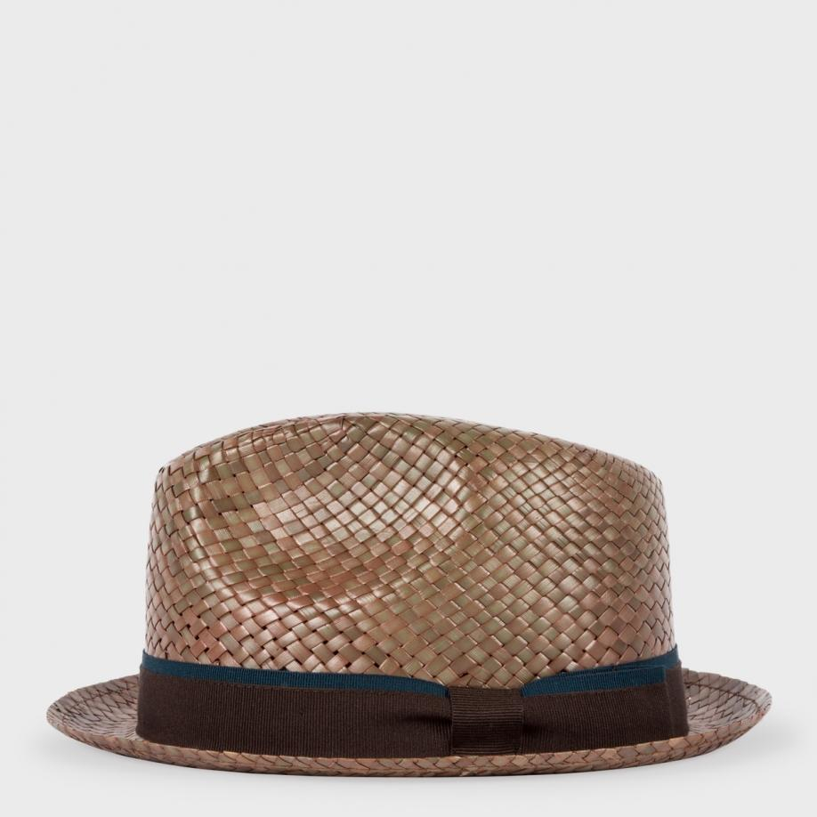 Lyst Paul Smith Men S Taupe Bovens Straw Hat In Brown