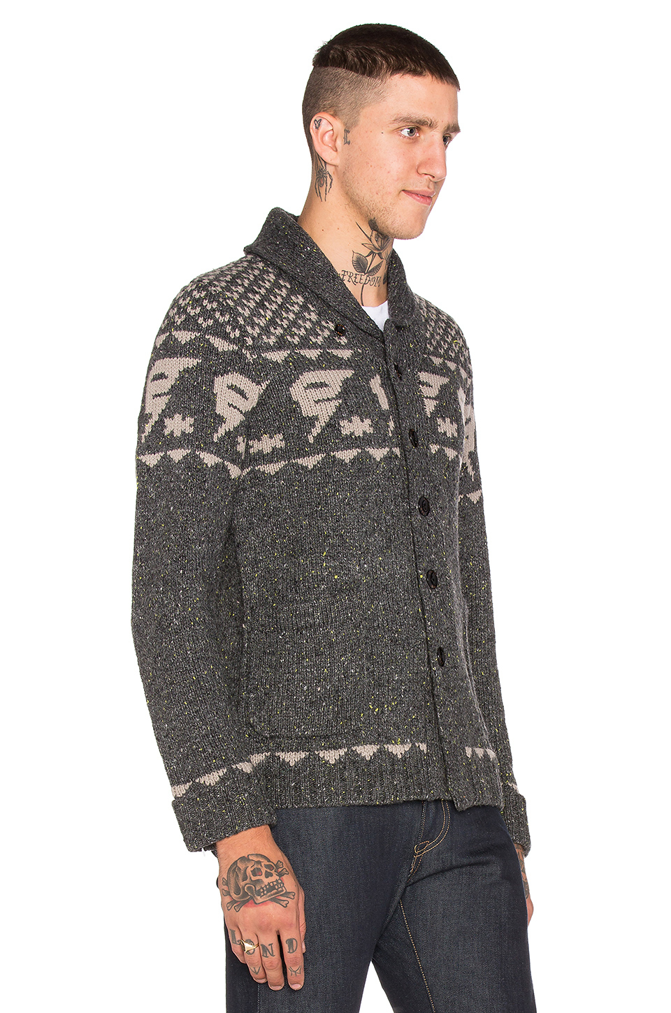 g star raw draha heavy wool slub cardigan in gray for men. Black Bedroom Furniture Sets. Home Design Ideas