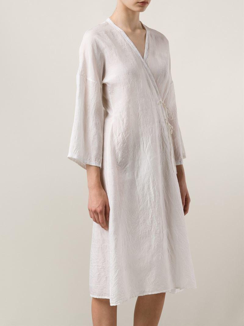 Dosa Silk Wrap Dress In White Lyst