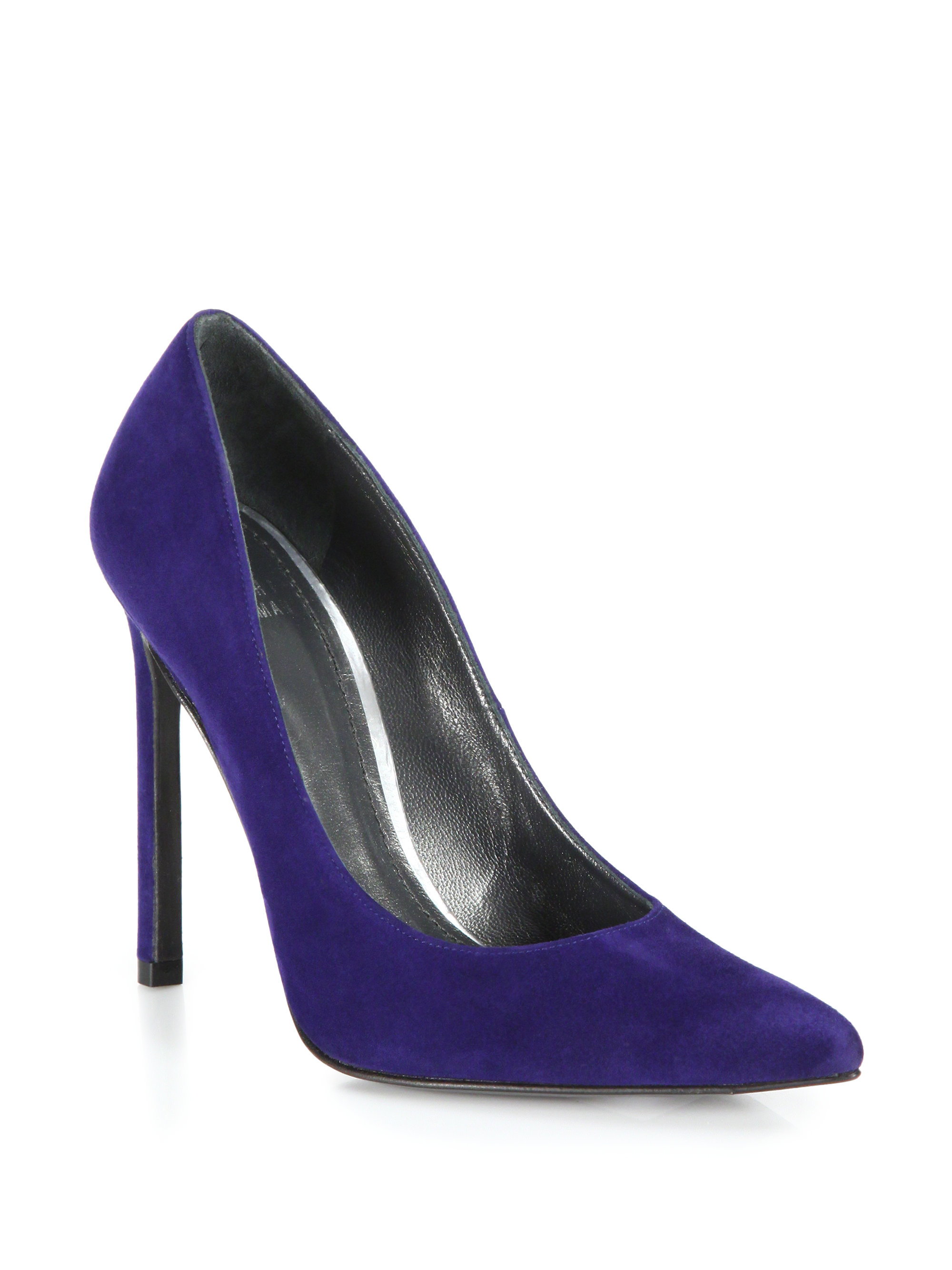 on wholesale clearance prices excellent quality Stuart Weitzman Queen Suede Pumps in Blue - Lyst