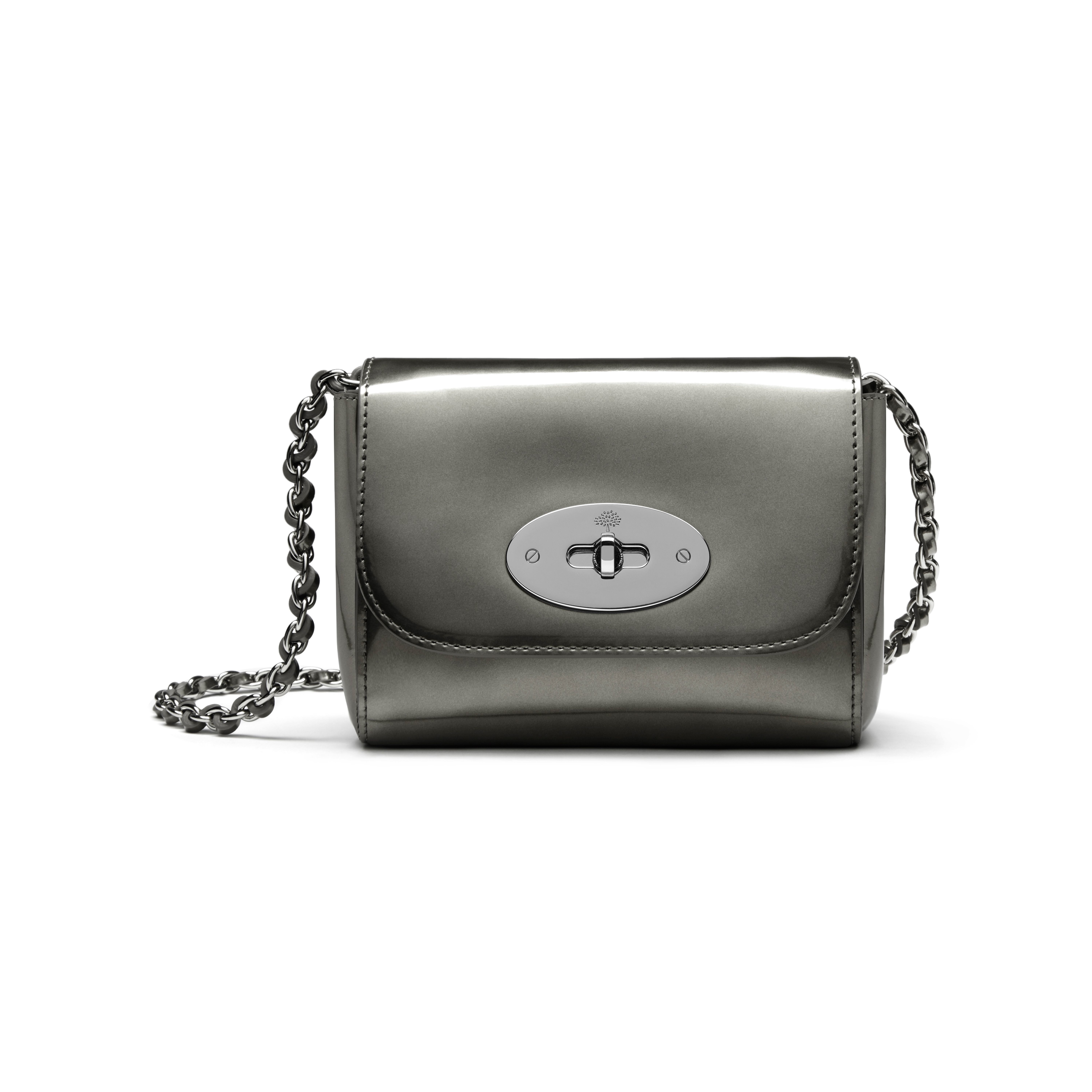 d34ccdac95ee ... spain mulberry lily mini metallic leather shoulder bag in metallic lyst  7fce2 7d635 ...