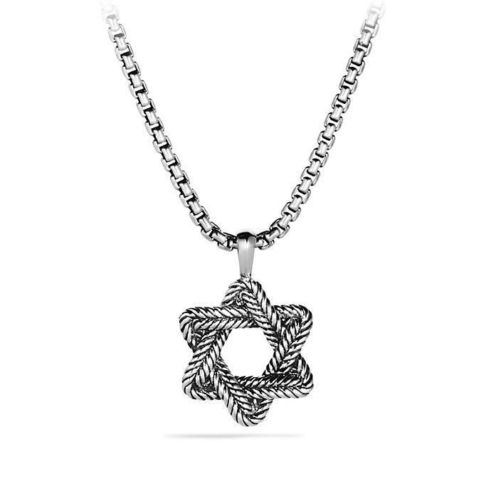 Lyst david yurman chevron star of david necklace in for Star of david necklace mens jewelry