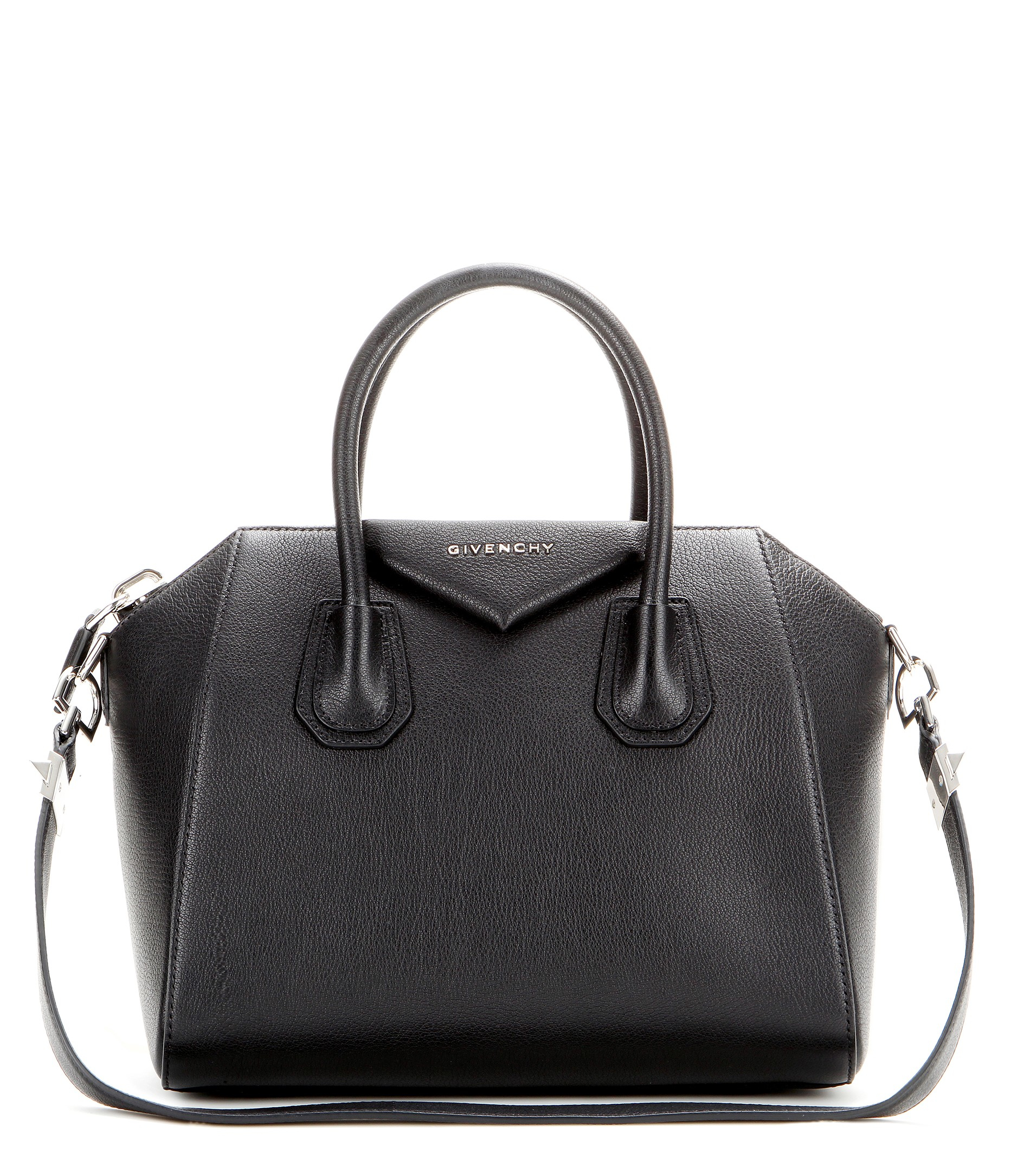 lyst givenchy antigona small leather tote in black. Black Bedroom Furniture Sets. Home Design Ideas