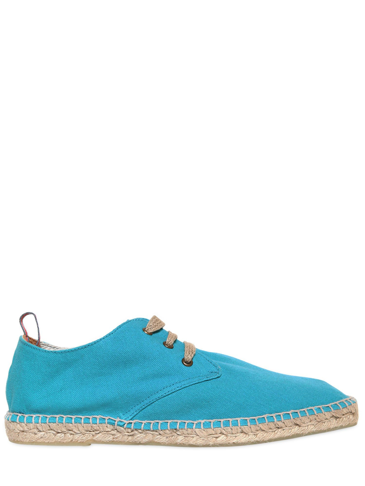 Castaner Cotton Canvas and Jute Laceup Shoes in Blue for ...