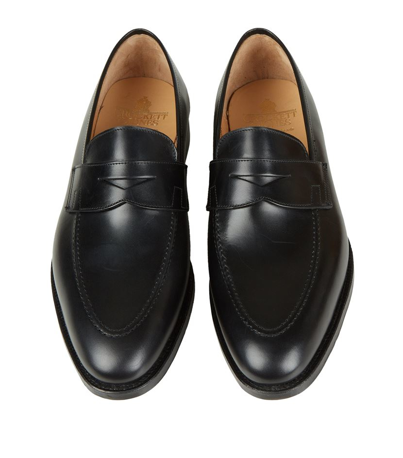 a8bd406da97 Crockett and Jones Sydney Penny Loafer in Black for Men - Lyst