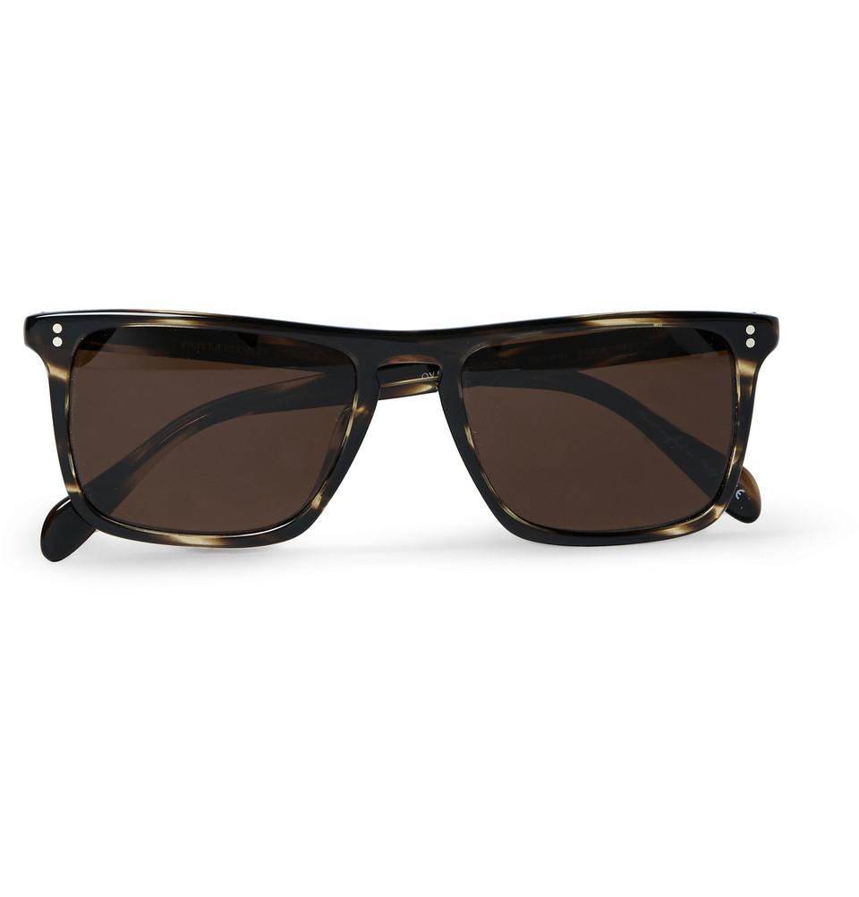 0ebce5e5c0e Lyst - Oliver Peoples Bernardo D-Frame Acetate Sunglasses in Brown for Men