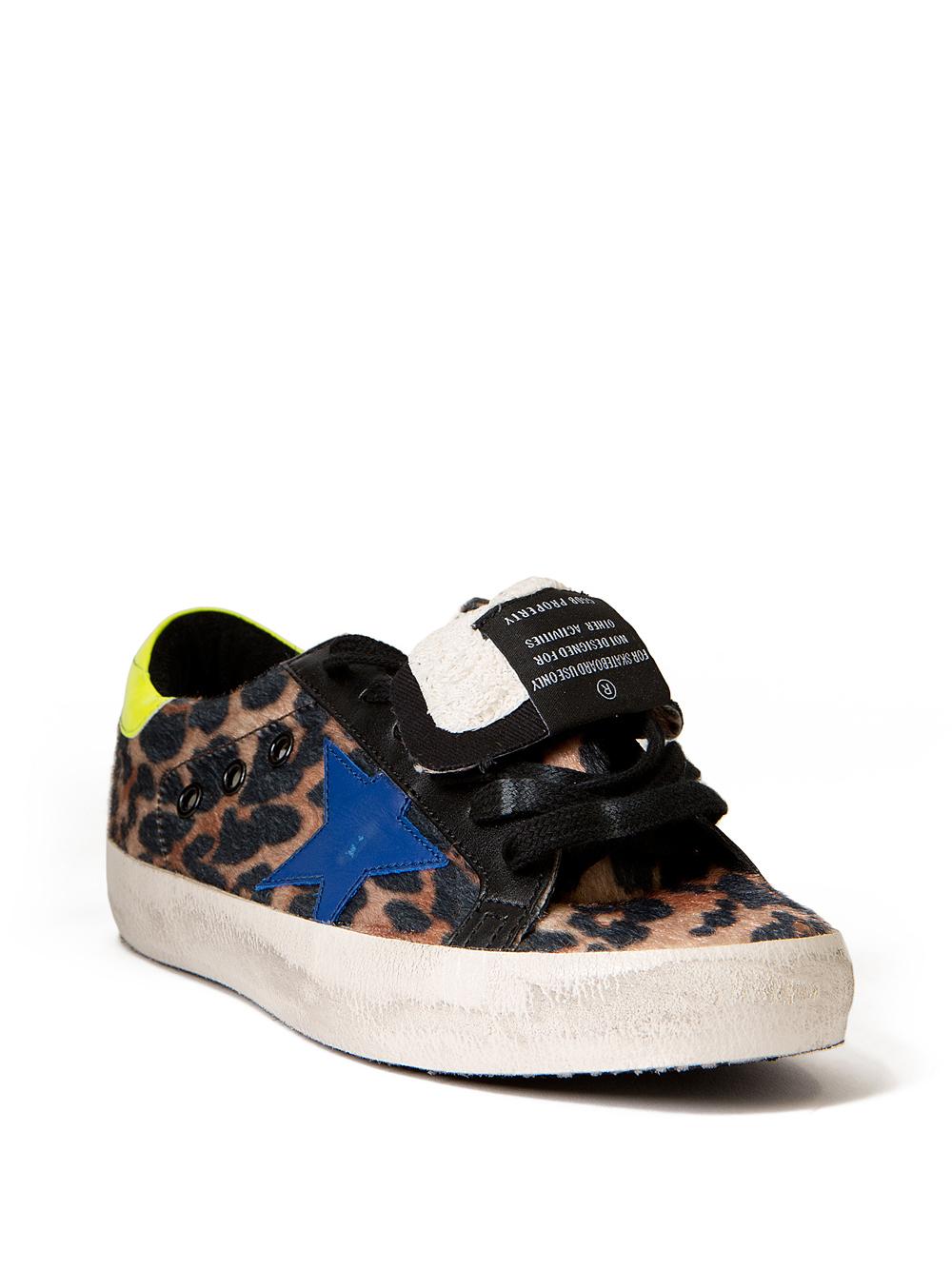Golden Goose Deluxe Brand Superstar Leopard Sneakers Lyst