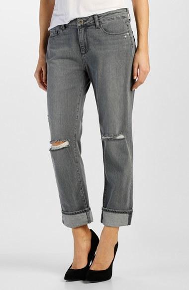 Paige Porter Boyfriend Jeans In Gray Lyst