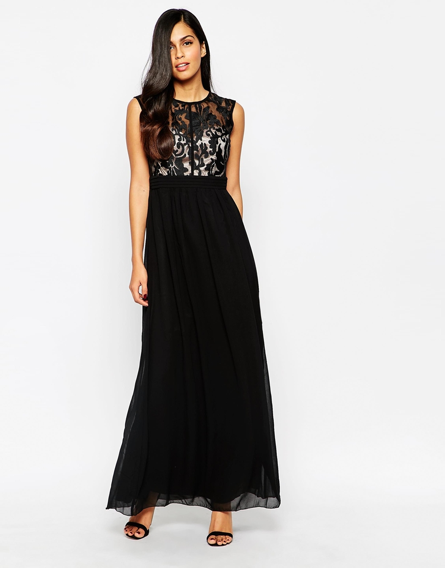 Maxi Dress With Lace Top