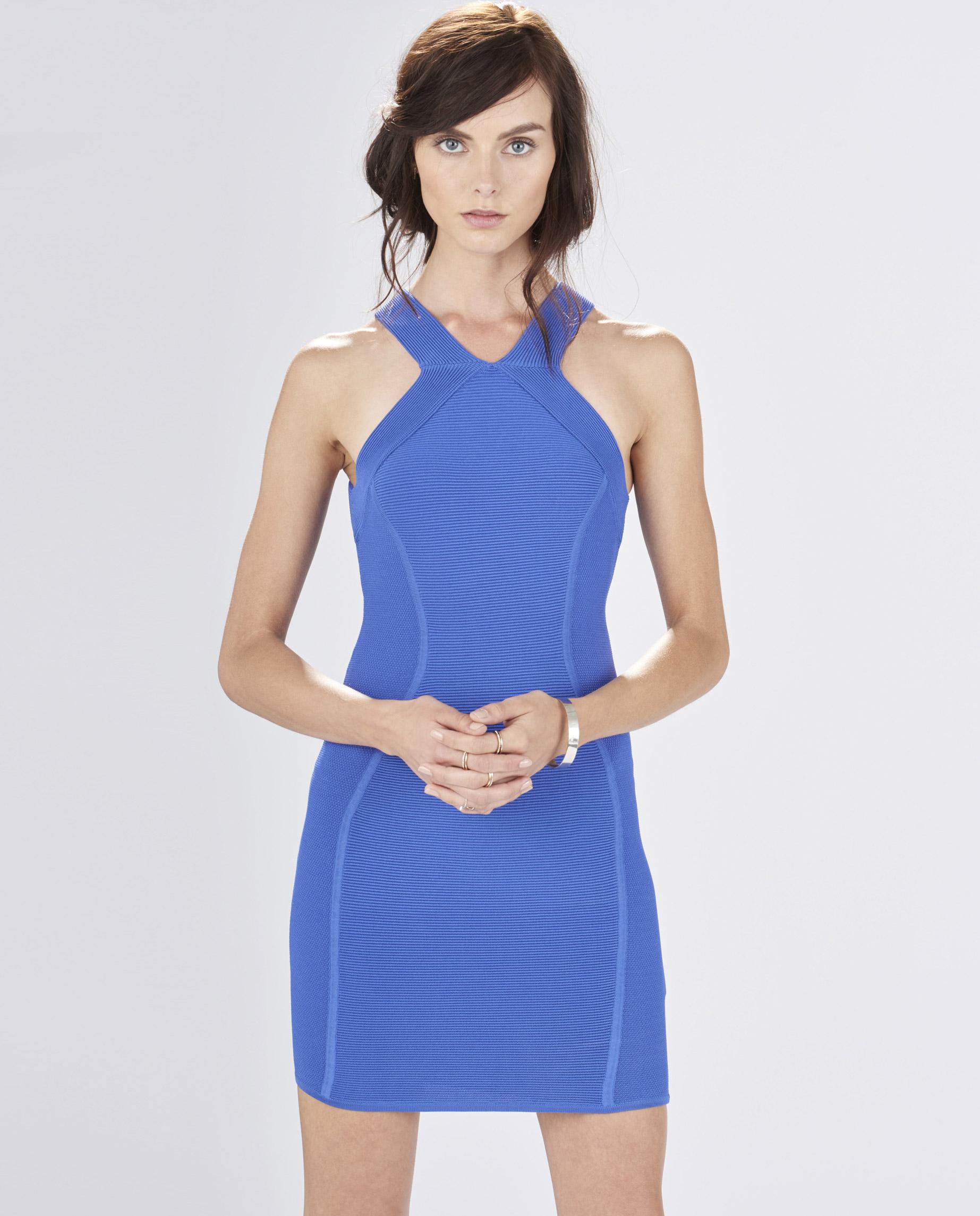 543b1c255b4 Lyst - Parker Leeds Knit Dress in Blue