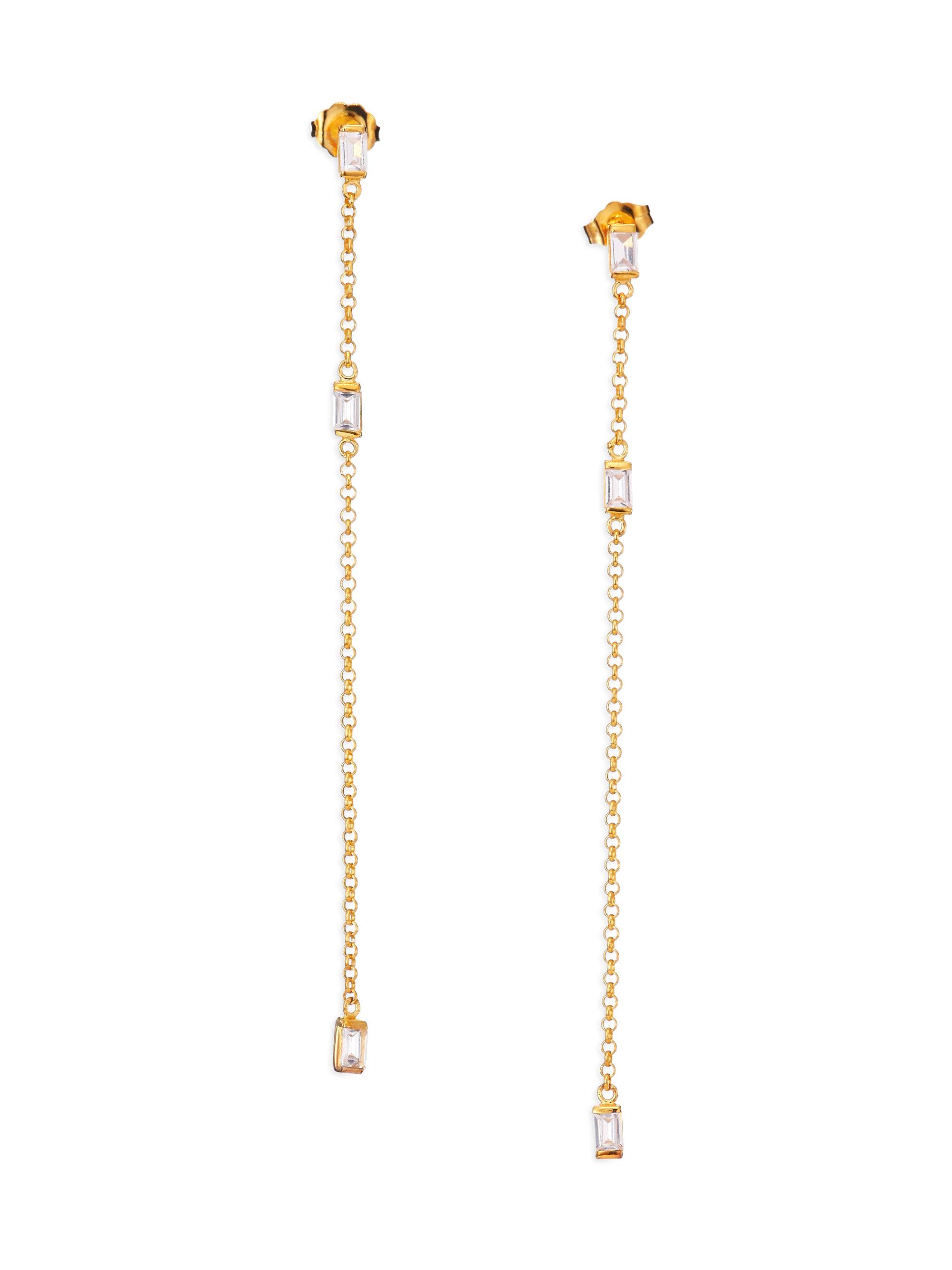 Jennifer Zeuner Elwood Chunky Chain Drop Earrings LPbrjf66