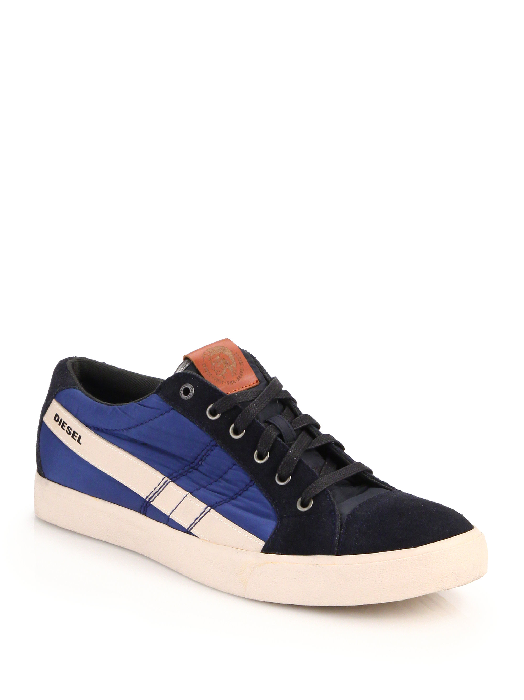Lyst - Diesel D-string Nylon, Suede & Leather Sneakers for Men