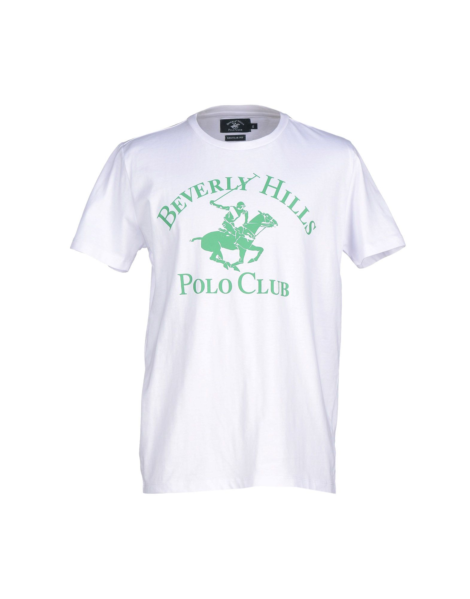 Beverly hills polo club t shirt in white for men lyst for T shirts for clubs