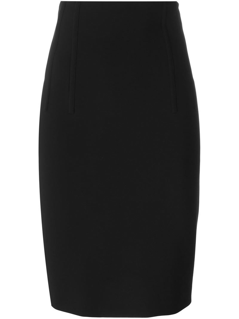 moschino classic pencil skirt in black lyst
