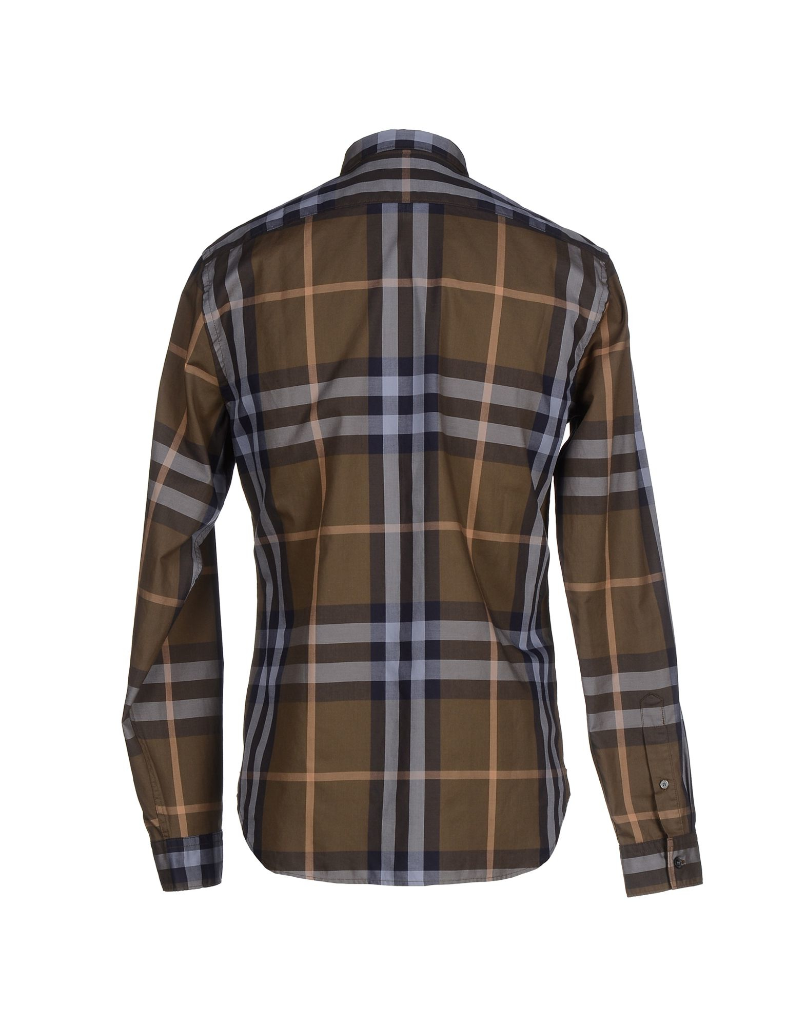 Burberry brit shirt in green for men lyst for Burberry brit green plaid shirt