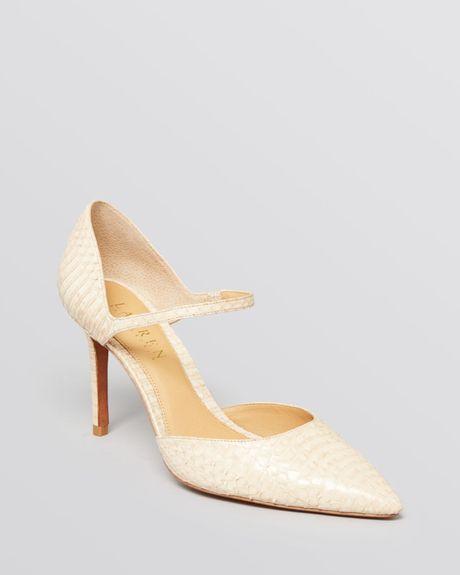 Lauren By Ralph Lauren Pointed Toe Mary Jane Pumps Exclusive Kenzie High Heel in Beige (Buff)